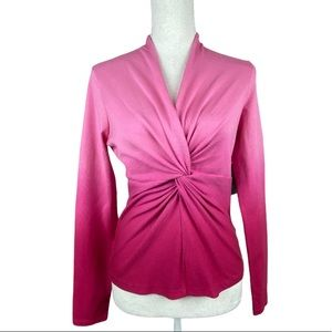 NWT. Jones New York Pink Punch Sweater. Size S.